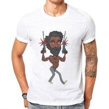 2019 Newest Mens Tshirts Singer Double Gun T-Shirt Men Funny Donald Glover Man T Shirt Cotton Tops Male Tee Shirts Free Shipping
