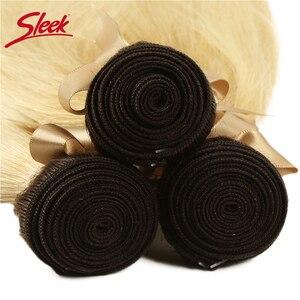 Image 5 - Sleek Bunte Haar Nerz Brasilianische Haarwebart Bundles10 To26 Zoll Honig Blonde 613 # Farbe Gerade Bunles Remy Haar Verlängerung