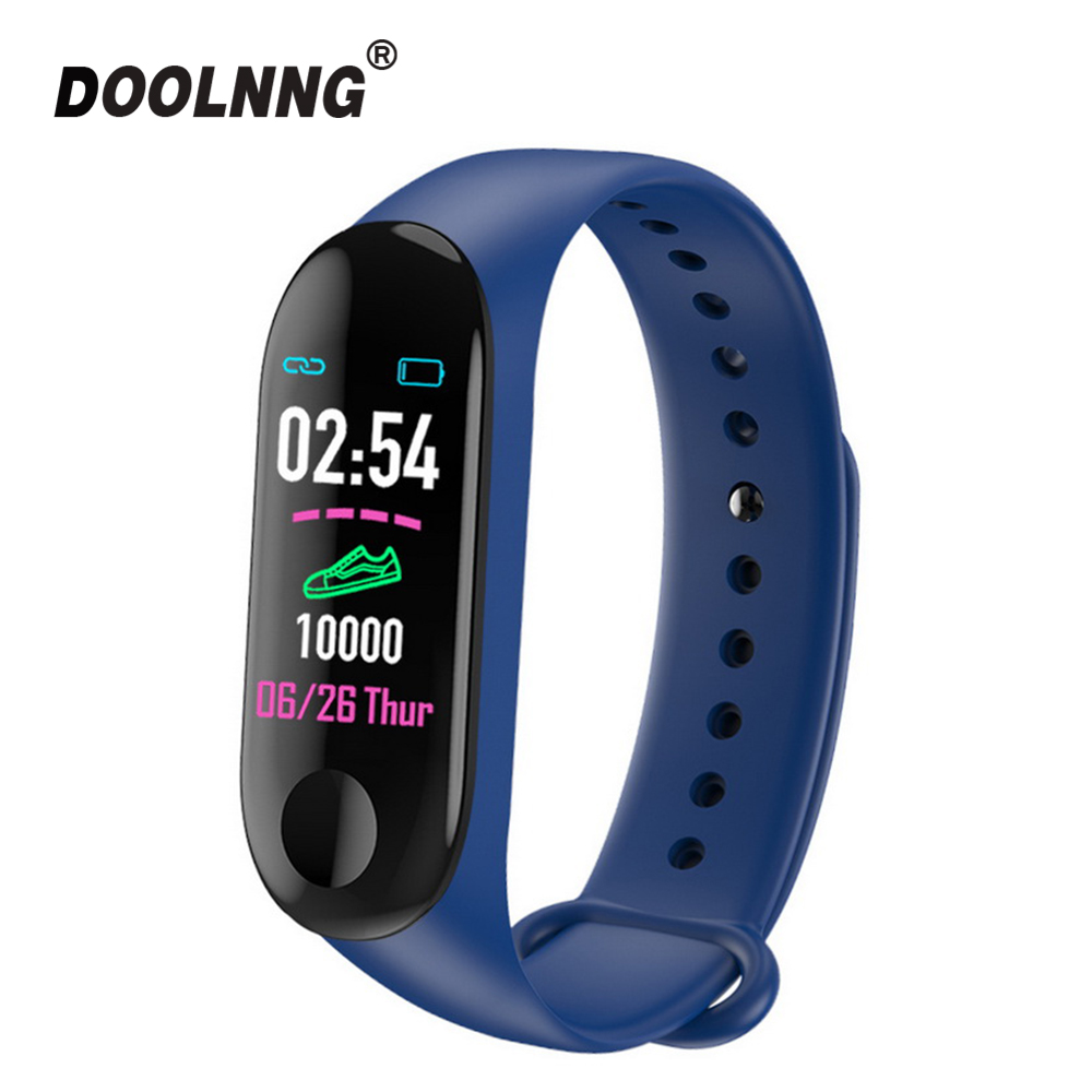 M3 Waterproof Fitness Bracelet IPS Screen Blood Heart Rate Monitor Smart Band Wristband Steps Counter Sports Tracker