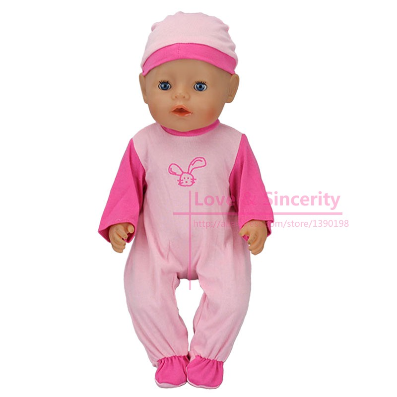 Fashion-Dolls-Jump-Suits-With-The-Hat-Fit-For-43cm-Baby-Born-Zapf-Doll-Reborn-Baby-Clothes-17inch-Doll-Accessories-1