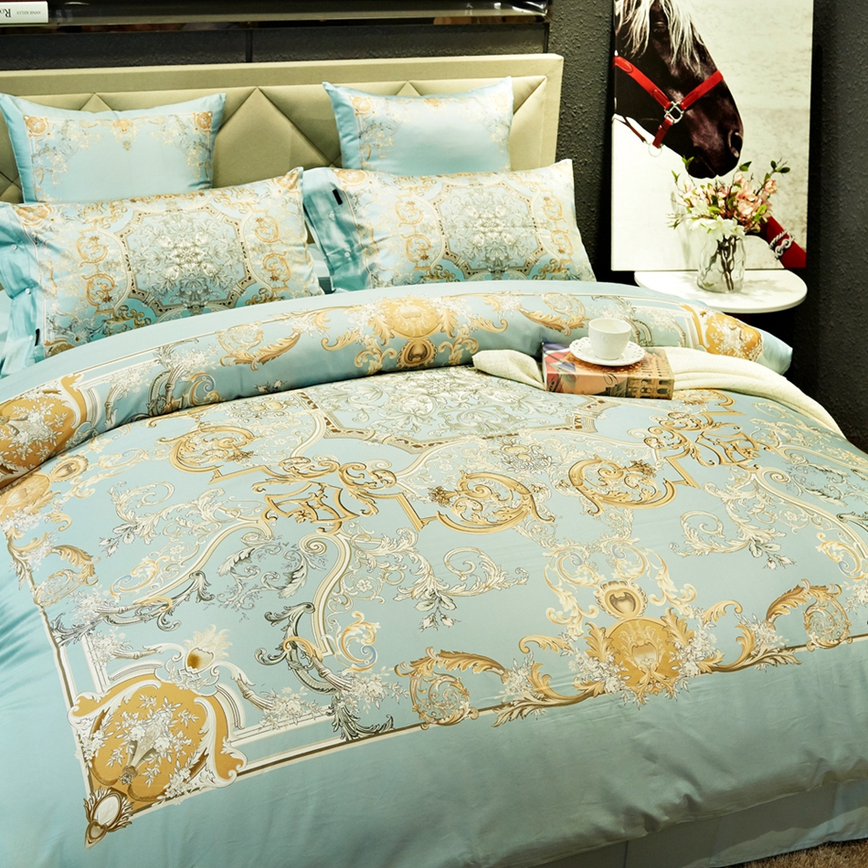 100 egyptian cotton royal duvet cover setqueen king size bedding set for adults