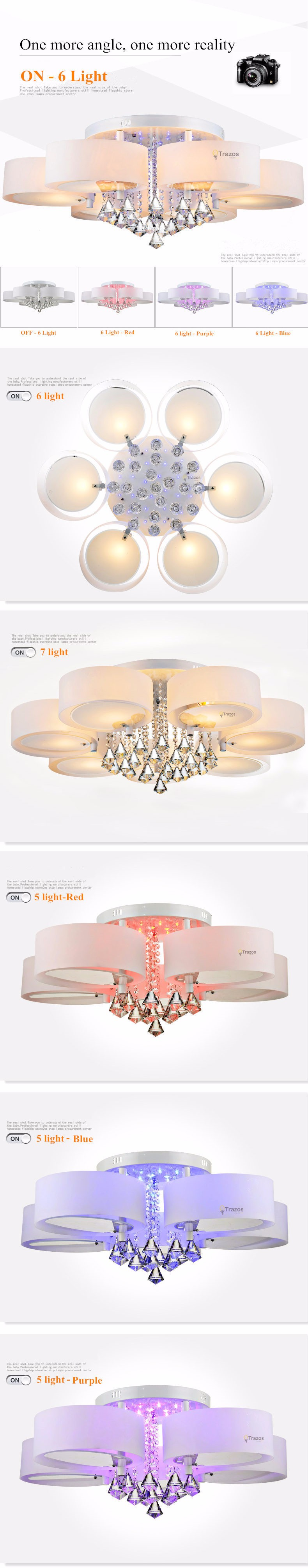 Cristal led luzes de teto moderno design