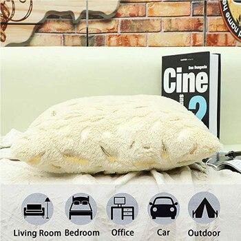 Decorative cushion cover fur feath