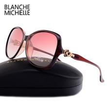 ブランシュミシェル 2019 新偏光サングラス女性ブランドのデザイナーのヴィンテージ UV400 太陽メガネスクエア gafas デゾル mujer とボックス