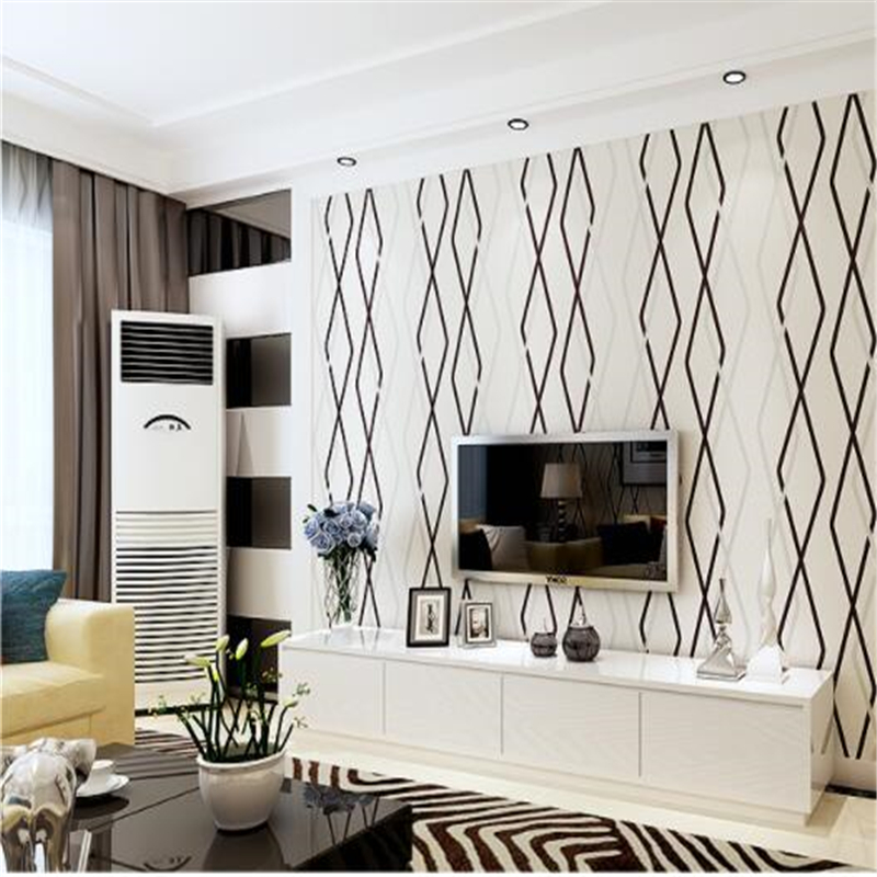 beibehang   papel pintado Wallpaper 3D living room wallpapers bedroom non - woven stripes modern minimalist film and television beibehang shop for living room bedroom mediterranean wallpaper stripes wallpaper minimalist vertical stripes flocked wallpaper