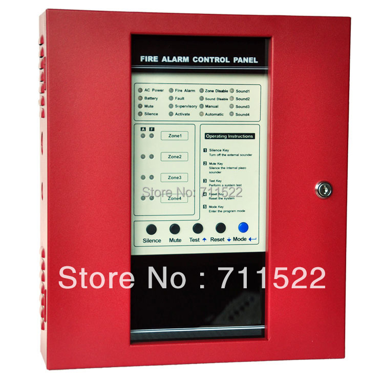 NEW Conventional Fire Alarm Control System Conventional Fire Alarm Control Panel 4 zones panel цена и фото