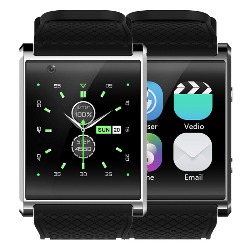 Android 5.1 Smart watch 1.54 inch HD Curved screen 4GB & 3G call Bluetooth 2MP Camera with speaker WIFI GPS Health Tracker Watch wireless service call bell system popular in restaurant ce passed 433 92mhz full equipment watch pager 1 watch 7 call button