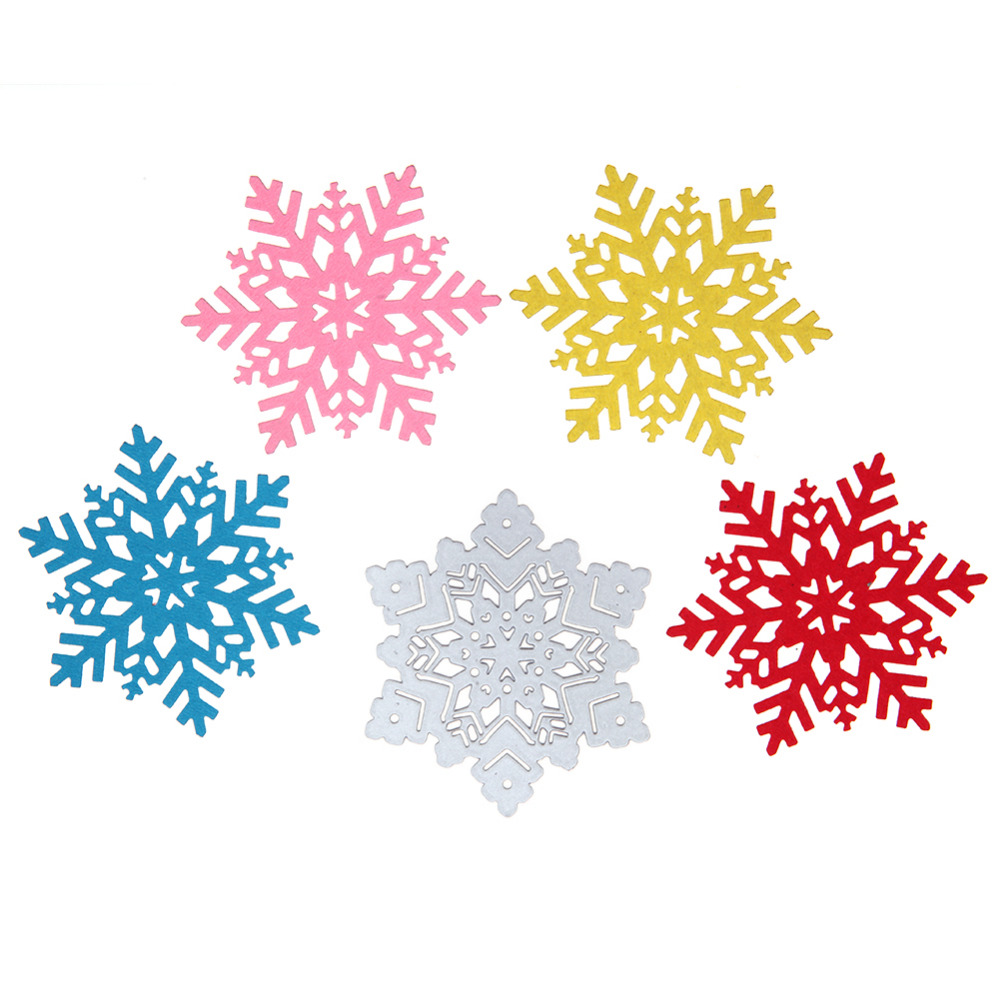 DIY Christmas Winter Snowflake Cutting Dies Metal Cutter Embossing Paper Cards