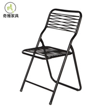 Garden Chairs Outdoor Furniture garden furniture Steel frame Rubber band balcon folding chair portable home garden chair modern cheap China Ecoz solid Countryside Metal 48*48*85cm iron