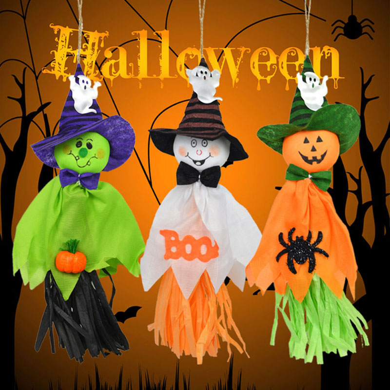 ghosts garland halloween bunting decorations halloween ghosts wall hanging home decor jk1052china mainland