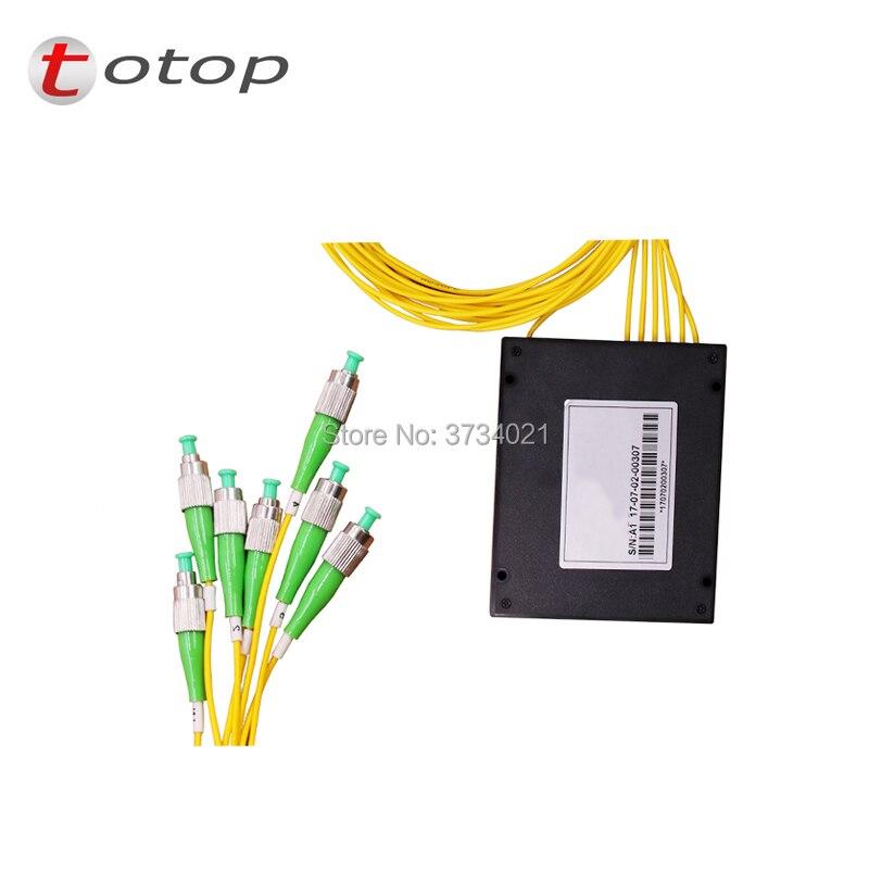 Connecteur optique de répartiteur de Fiber optique de boîte d'abs FC APC 1X6 pour le meilleur prix