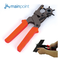 Mainpoint Revolving Heavy Duty Leather Canvas Belt Hole Punch HandPliers Belt Holes Punched Punching Plier Hole