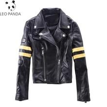 High Quality Autumn New Female Genuine Leather Jacket Short Coat Star Same Paragraph Sheepskin Women Motorcycle Biker Coat LX582
