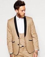 2018 последние конструкции пальто брюки шампанское Для мужчин костюм Черная шаль нагрудные смокинги Для мужчин костюмы для свадьбы бизнес ст
