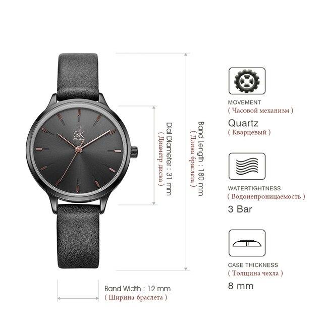 Shengke Brand Fashion Watches Women Casual Leather Strap Female Quartz Watch Reloj Mujer 2018 SK Women Wrist Watch #K8025
