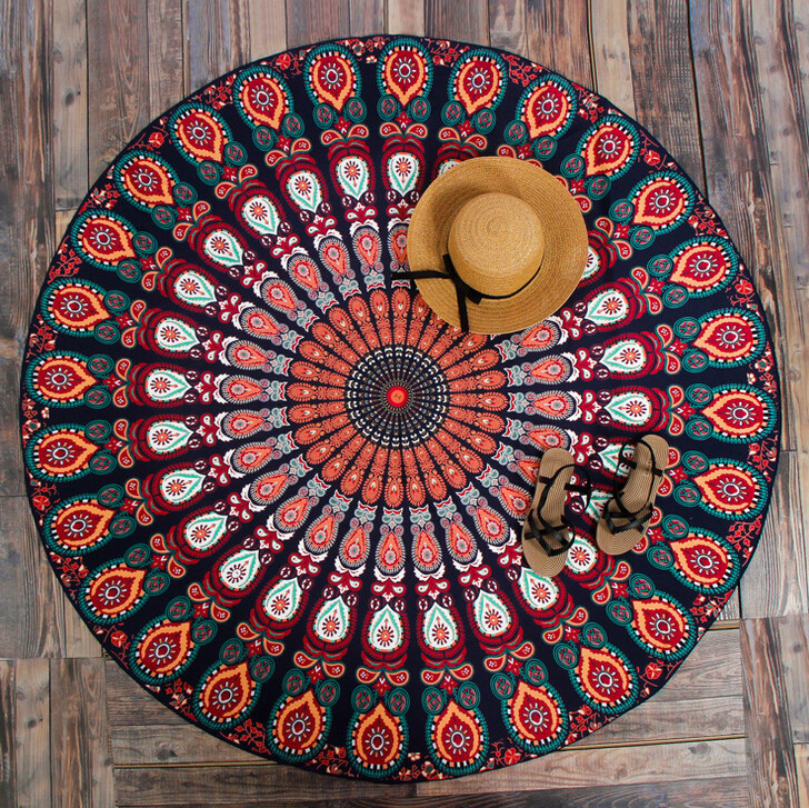 Hang Blanket On Wall aliexpress : buy summer mandala roundie beach boho pareo