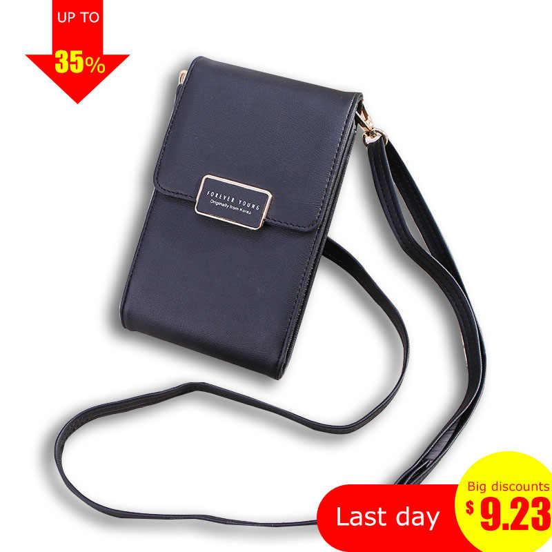 6b5083daf2ed ... Мини сумки через плечо для женщин Forever Young Сумка-клатч для  телефона женские кошельки Женская