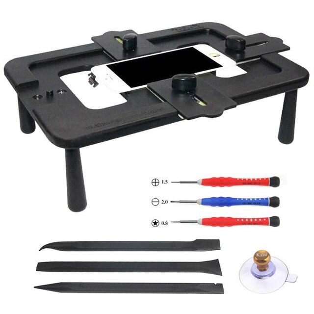 Kaisi accesorio de Posicionamiento Universal para teléfono móvil, 7 pulgadas, sujeción LCD, accesorio de laminación de pantalla, herramienta manual, Kit de reparación
