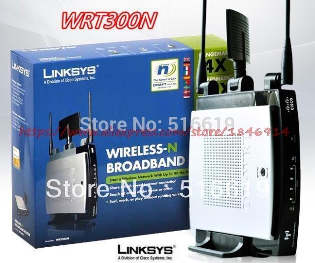 Linksys wrt300n Беспроводной QoS маршрутизатора 3 Антенна стабильная
