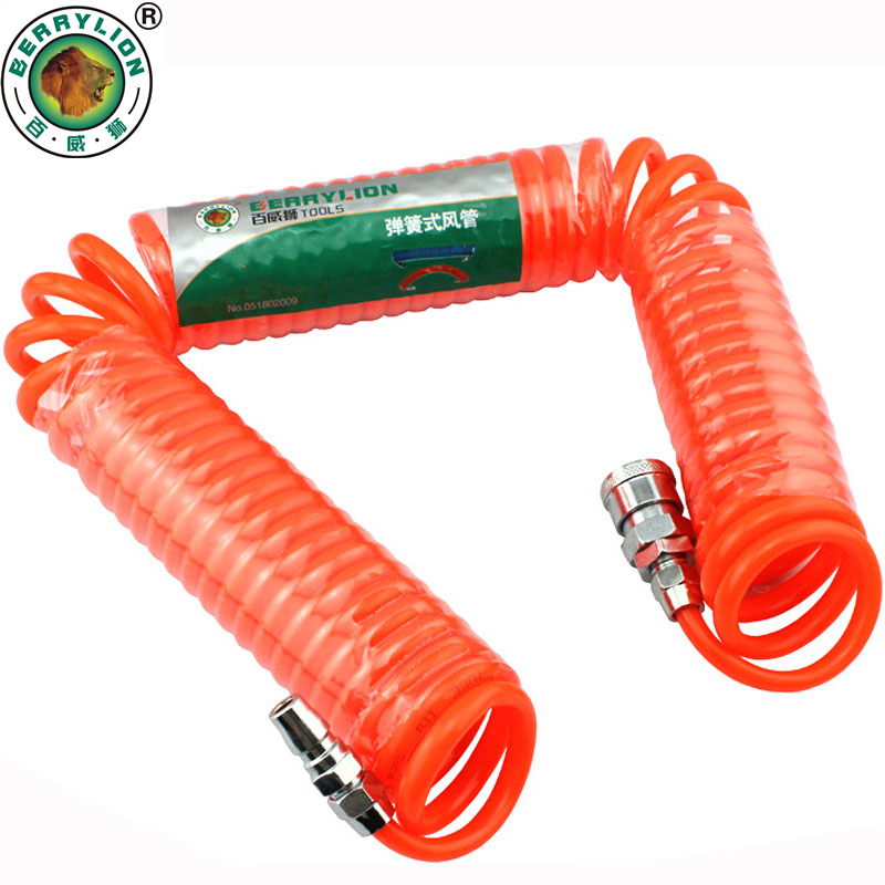BERRYLION Pneumatic parts Air Hose Components 6/9/12/15/20/30M Quick Connector PP20+SP20 Air Hose Tube Pneumatic Tools 5pcs hvff 08 pneumatic valve control hvff 8mm tube pipe hose quick connector hand valves plastic pneumatic hose air fitting
