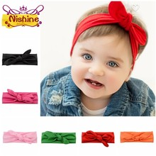 Nishine 40 Pcs Fashion Hoofdband Knoop Headwrap Kids Haarband Tulband Photo Prop Stretchy Meisjes Haar Accessoires(China)