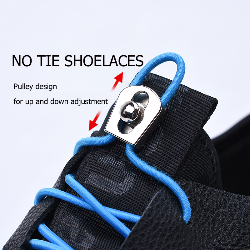 metal Turnbuckle No tie elastic lock shoelaces for kids adults sports sneakers