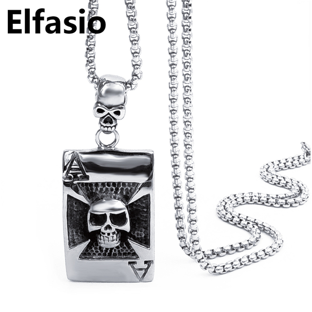 Mens silver skull grim reaper pendant with 18inch 30inch box mens silver skull grim reaper pendant with 18inch 30inch box stainless steel chain necklace fashion mozeypictures Gallery