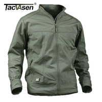TACVASEN Military Men Jacket Waterproof Anti Pilling Tactical Jacket Softsell Summer Spring Breathable Army Jacket TD
