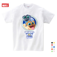 цены Boy Summer Funny Cartoon Puppy Dog Pals Printed T-shirts Girls Short Sleeve T Shirt For Kids Summer Clothes Children Clothing