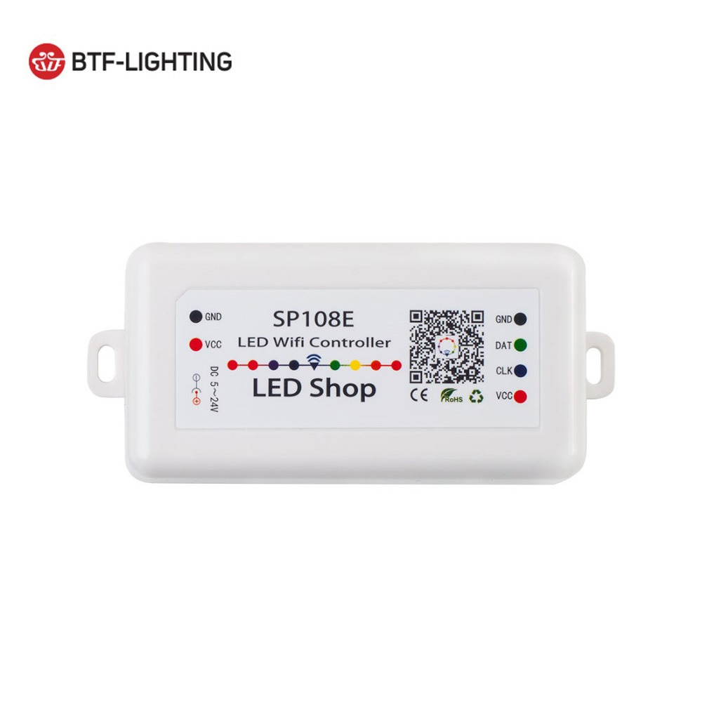 Lights & Lighting Humorous Sp108e Led Wifi Magic Controller Ws2811 Ws2812b Ws2813 Etc Led Strip Module Light Smart App Wireless Control Dc5-24v
