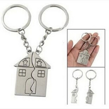 Couple House Keychain Personalized Souvenirs Pendant Keyrings