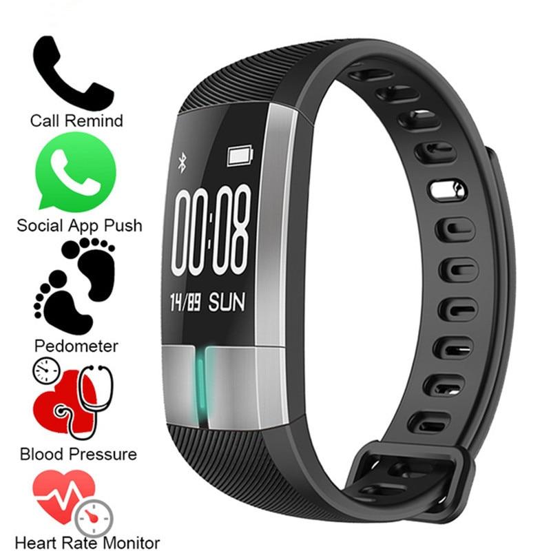 купить NEW Smart WristBand ECG Real-time Monitoring Blood Pressure Heart Rate Sport Fitness Tracker Bracelet Watch Smart Activity Band по цене 3008.89 рублей