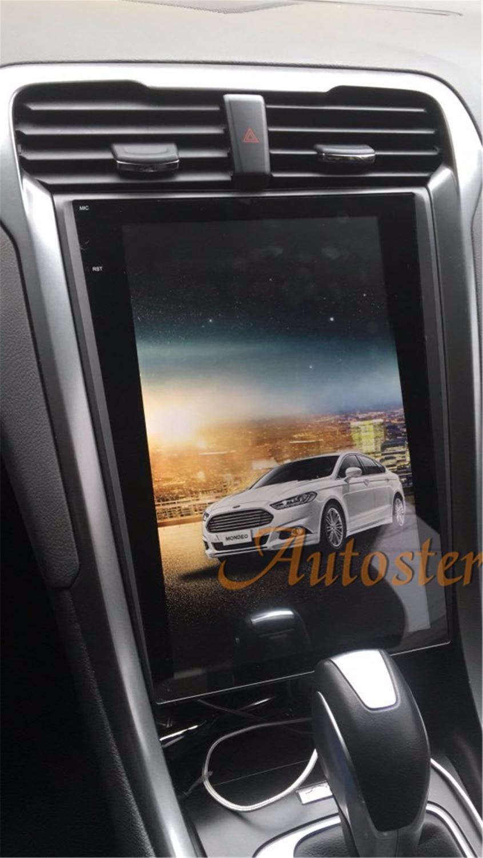 Tesla style pur Android 12.1 Voiture Pas Lecteur DVD GPS Navigation Pour Ford Mondeo Fusion MK5 2013 + stéréo auto unité multimédia