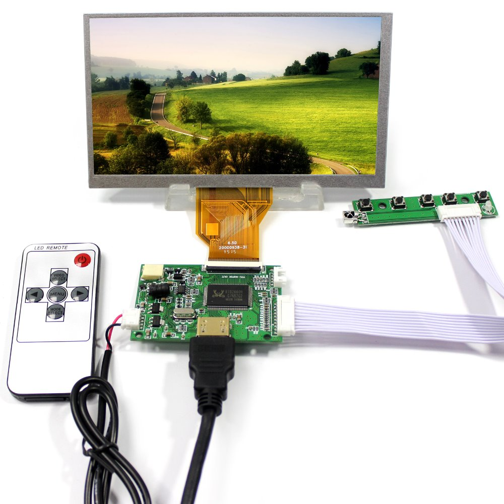 HDMI LCD  Controller Board+6.5inch AT65TN14 800x480 LCD Screen