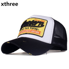 [Xthree]summer snapback hat baseball cap mesh cap cheap cap casquette bone hat for men women casual gorras(China)