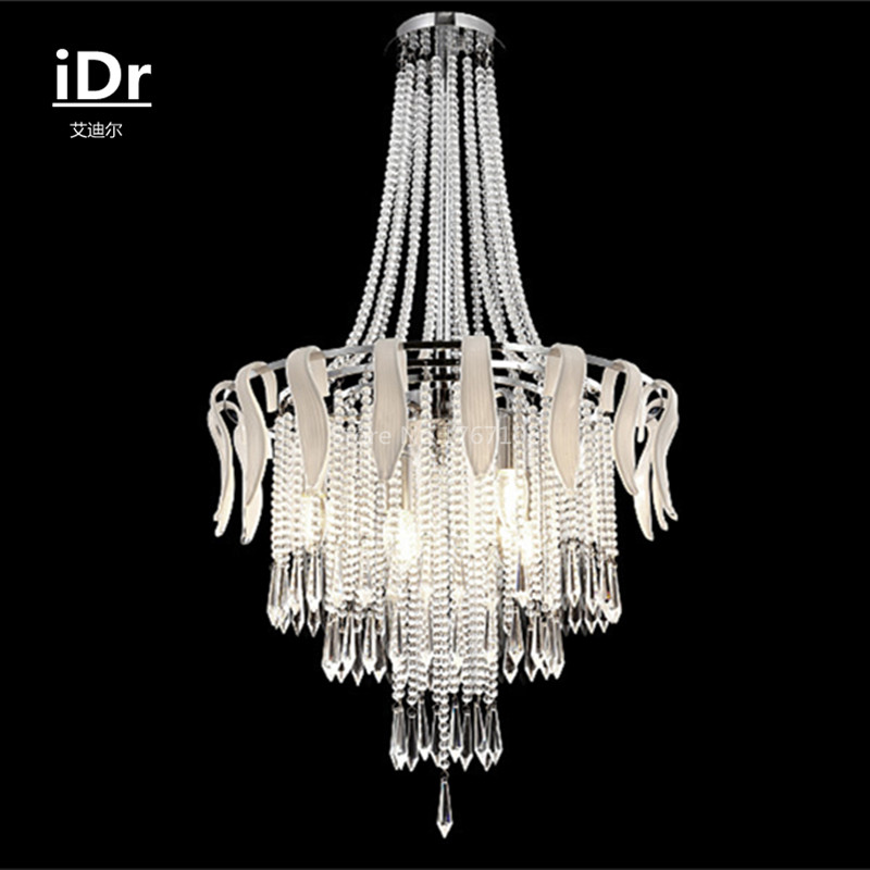 new luxury crystal lamp living room bedroom lighting fixtures restaurant high quality chandeliers upscale atmosphere cheap bedroom lighting