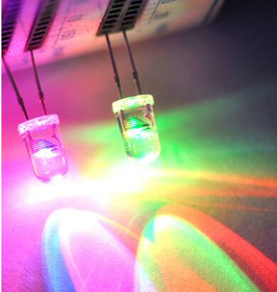 Diodes Obliging 1000 Pcs 5mm Round Fast Rgb Flash Rainbow Multicolor Red Green Blue Light Emitting Diode Led