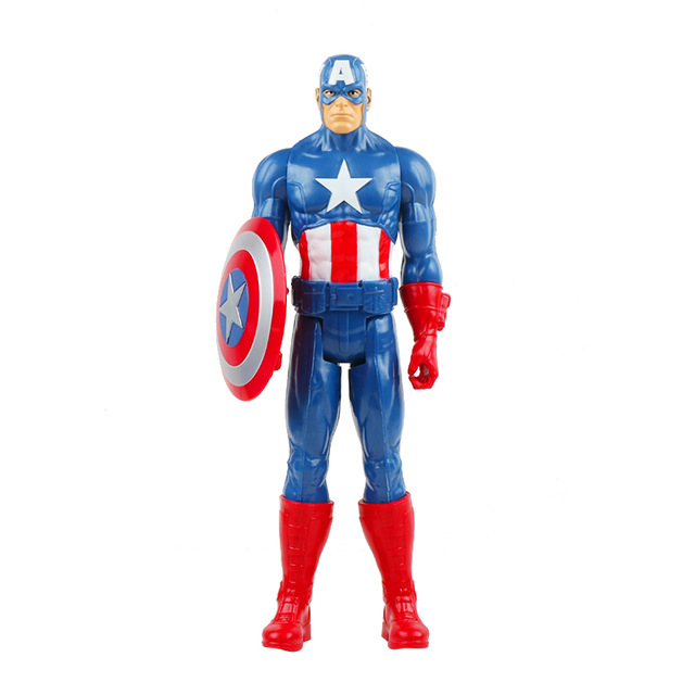 30 см Marvel Мстители игрушки танос Халк Бастер человек паук Железный человек Капитан Америка Тор Росомаха Черная пантера фигурка куклы - Цвет: captain no box