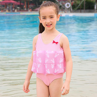 1 2Y Children Swimsuit Floating Buoyancy Boy Girls Swimsuits Detachable Swimwear One piece Kids Children Training Swimming Suit
