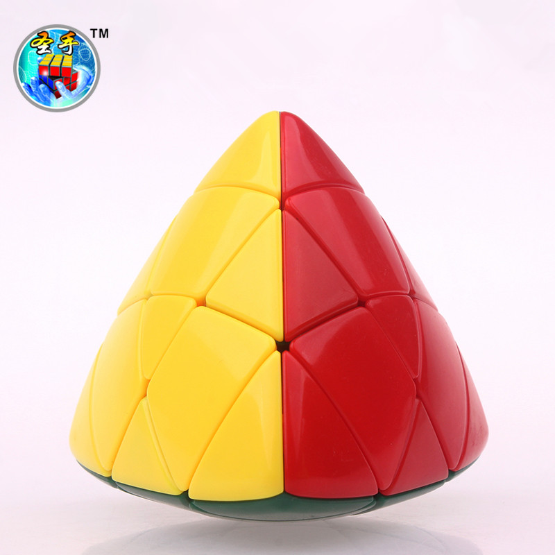 Mastermorphix Cube Magic Zongzi Puzzle Pyramidcu Orez cu bomboane fără autocolant Speed Cube Pyramorphix educational Jucarii pentru copii