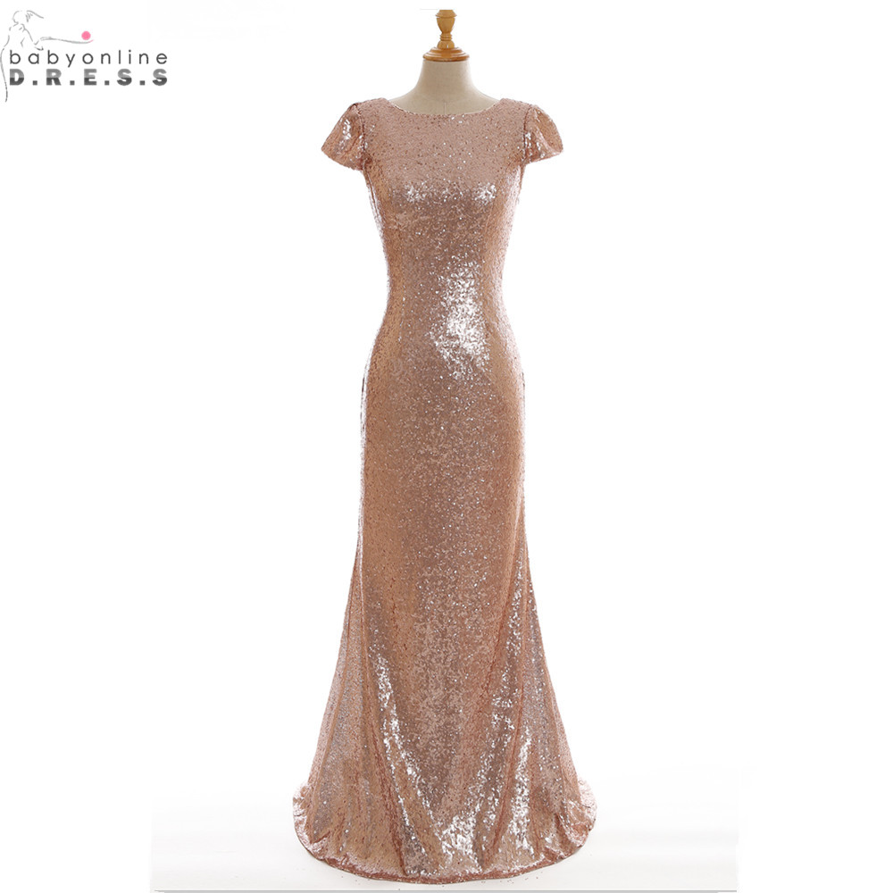 Buy cheap real image rose gold sequin for Wedding party dresses cheap