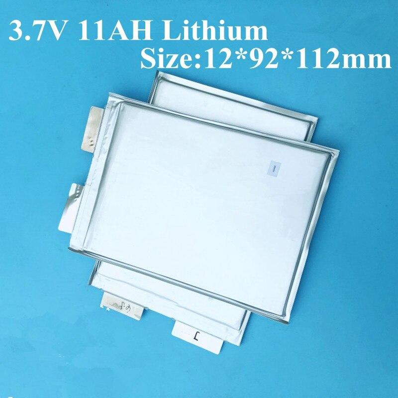 7 Uds 3,7 v 11ah polímero 3,7 v 12ah alta descarga batería de litio 100A para Ebike 12v paquetes Diy 24v 12ah batería silla de ruedas