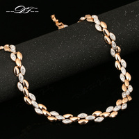 DFN101 Ear Of Golden Wheat Chokers CZ Diamond 18K Gold Plated Necklace Pendants Wholesale Jewelry For