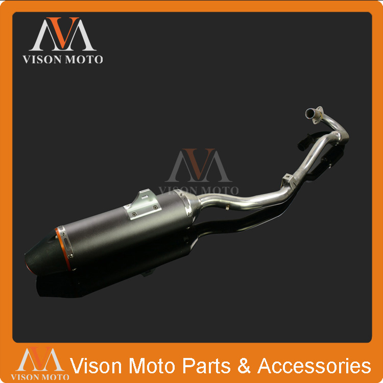 Aluminum Exhaust Pipe Muffler Slip System On For Honda CRF150F CRF230F 2003-2013 Motorcycle Dirt Bike Motocross Racing Supermoto dwcx motorcycle adjustable chain tensioner bolt on roller motocross for harley honda dirt street bike atv banshee suzuki chopper