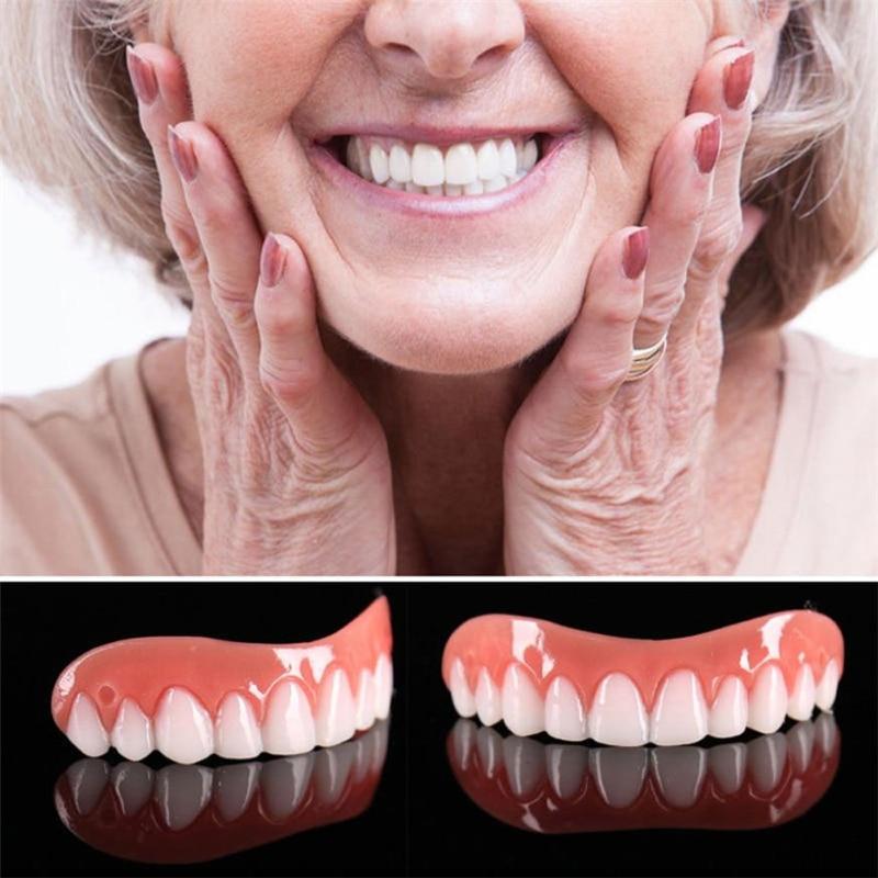 1/2PC Dental Veneers Comfort Fit Teeth Top Cosmetic Veneer One Size Fits All Denture Adhesives Tooth False denture teeth smile| |   - AliExpress