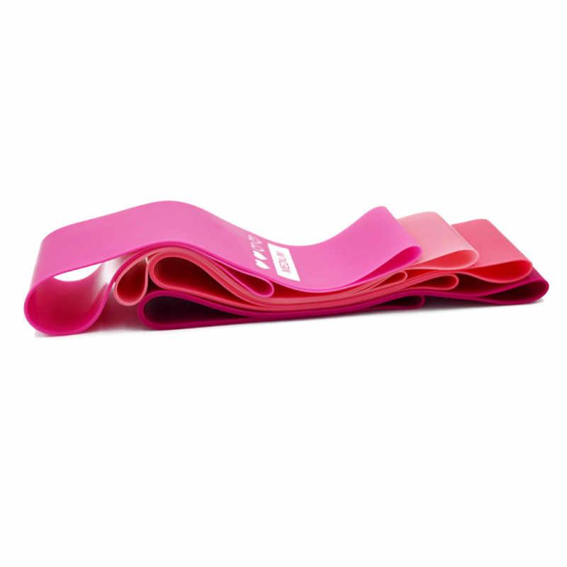 4 kolory joga odporność na opaski gumowe kryty sprzęt do ćwiczeń na świeżym powietrzu Pilates trening sportowy trening Opaski elastyczne 0.5mm-1.1mm