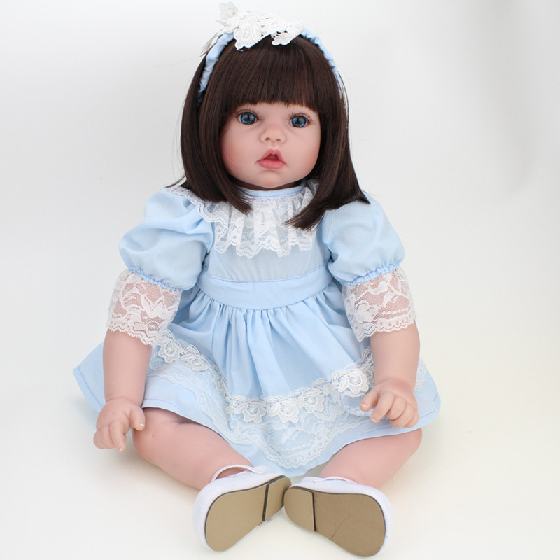 Refinement Silicone Reborn Baby Doll Princess Baby Girl 20 Inch Lifelike Baby Alive Dolls Children Creative Birthday Gift L675 lifelike american 18 inches girl doll prices toy for children vinyl princess doll toys girl newest design