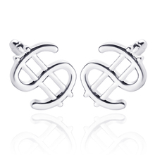 New Design $ USD Dollar Sign Silver Plated Cufflinks Shirt Cuff Buttons For Mens Classic Currency Symbol Christmas Gift