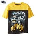2016 Summer Batman T-shirt Kids Boys Tees Children Cotton T Shirt Patwork Tops Printed Super Hero Costumes For Baby Boys