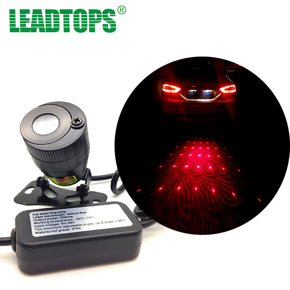 1set Direct Selling Rushed Universal Led Fog Lights Anti Collision Rear-end Car Laser Tail Auto Brake Parking Lamps Warning DD car tracing cauda laser light for volkswagen vw jetta mk6 bora 2010 2014 special anti fog lamps rear anti collision lights